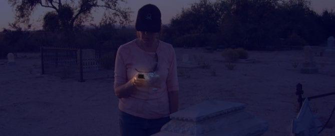 Carol at Pioneer Cemetery