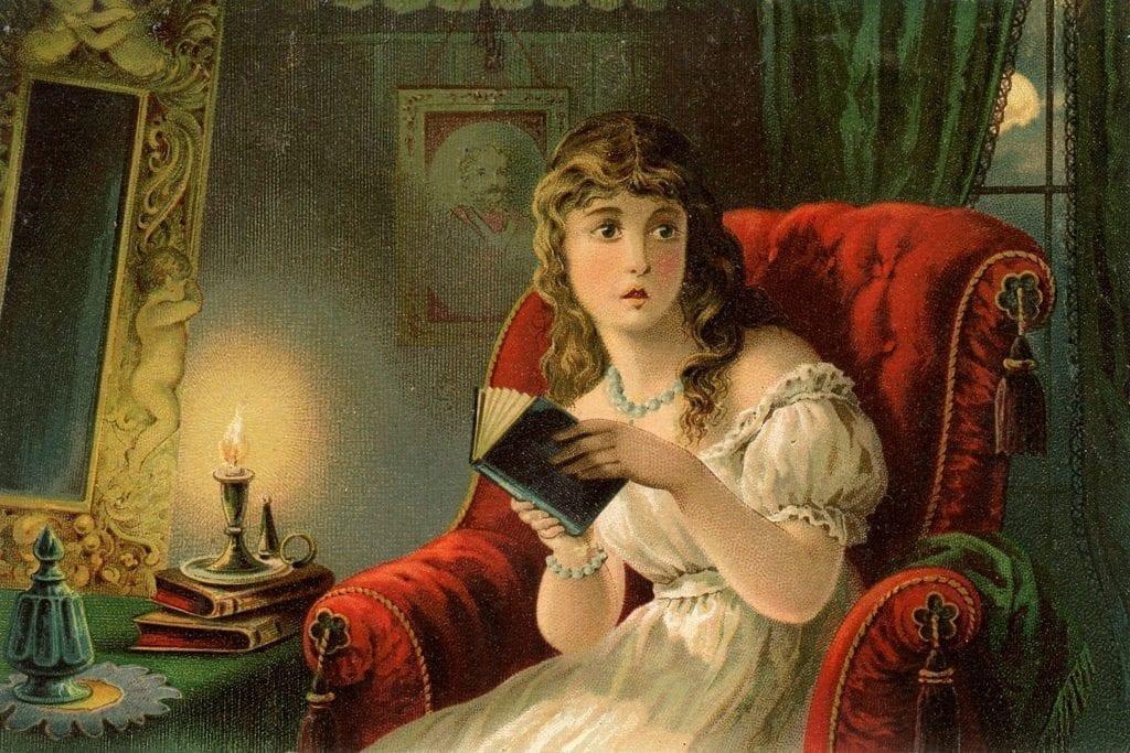 Victorian Woman Terrified